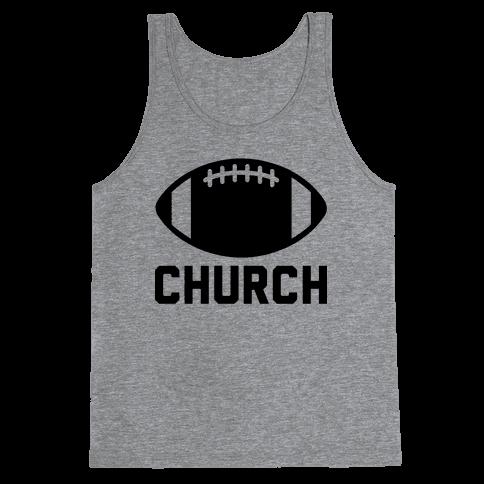 Football Church Tank Top