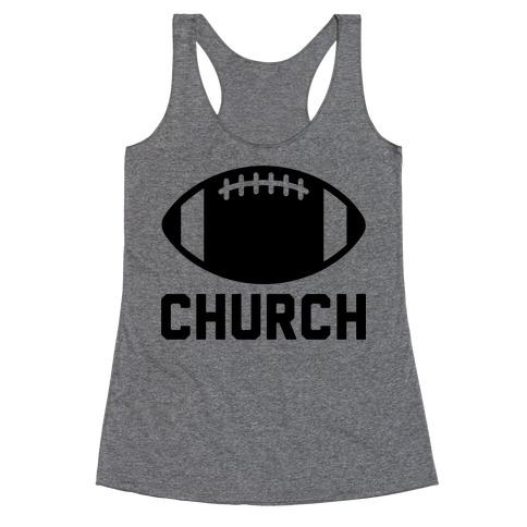 Football Church Racerback Tank Top