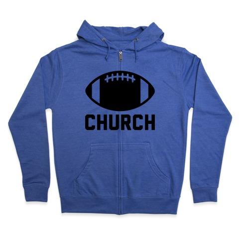 Football Church Zip Hoodie