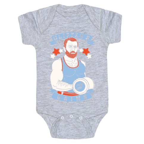 Uliftes S. Gains Baby Onesy