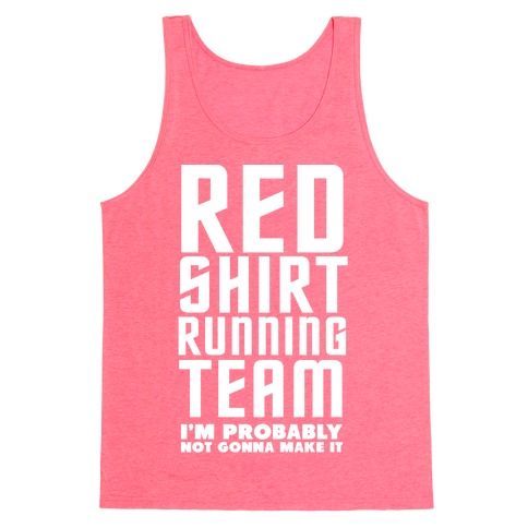 Red Shirt Running Team Tank Top