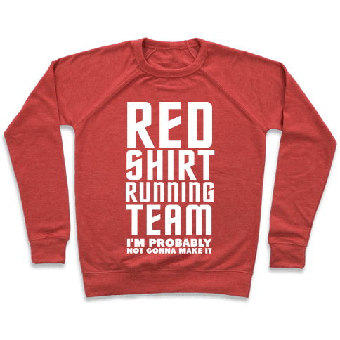 Red Shirt Running Team Pullover
