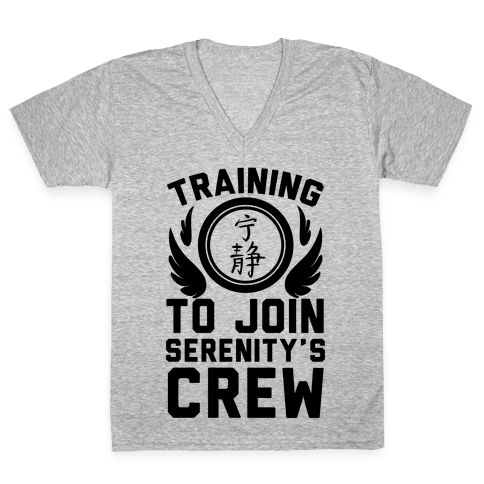 Training to Join Serenity's Crew V-Neck Tee Shirt