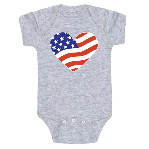 American Flag Baby Onesy