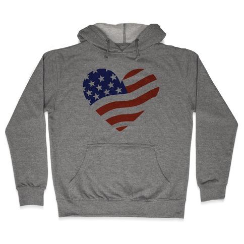 American Flag Hooded Sweatshirt