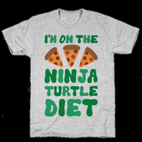 I'm On The Ninja Turtle Diet Mens T-Shirt