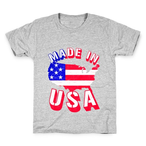 Made In USA (Patriotic Tank) Kids T-Shirt