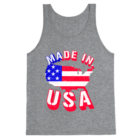 Made In USA (Patriotic Tank) Tank Top