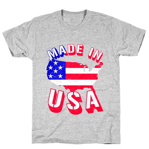 Made In USA (Patriotic Tank) Mens T-Shirt