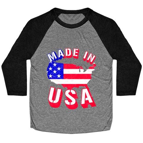 Made In USA (Patriotic Tank) Baseball Tee