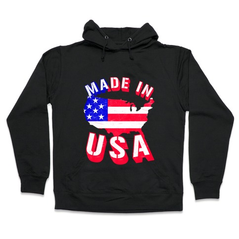 Made In USA (Patriotic Tank) Hooded Sweatshirt