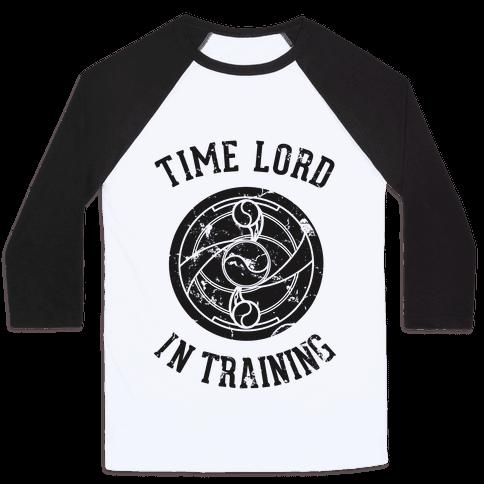Time Lord In Training Baseball Tee