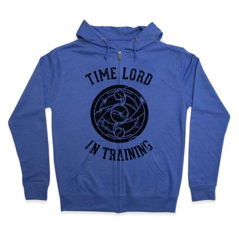 Time Lord In Training Zip Hoodie