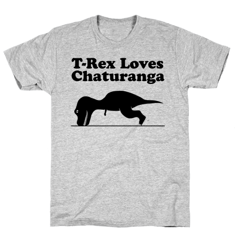 T-Rex Loves Chaturanga Mens T-Shirt