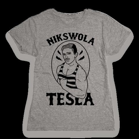 Nikswola Tesla Womens T-Shirt