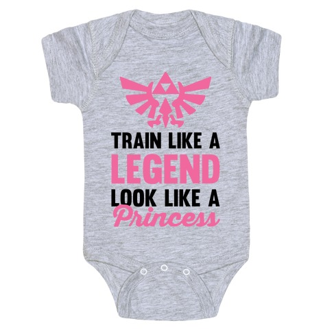 Train Like A Legend Look Like A Princess Baby Onesy
