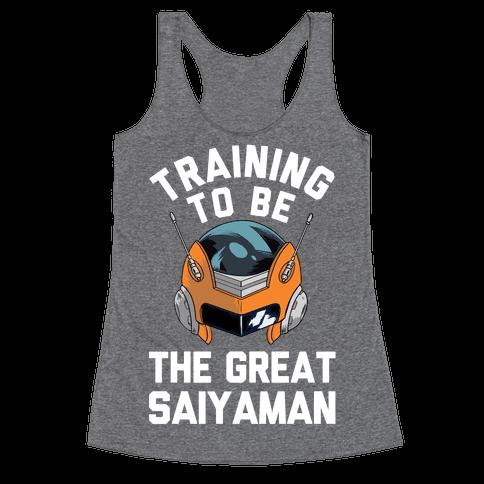 Training To Be The Great Saiyaman Racerback Tank Top