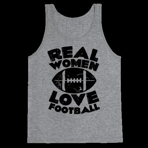 Real Women Love Football Tank Top