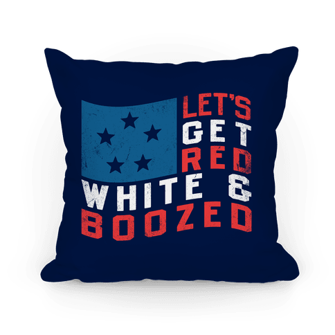 Red, White, and Boozed Pillow