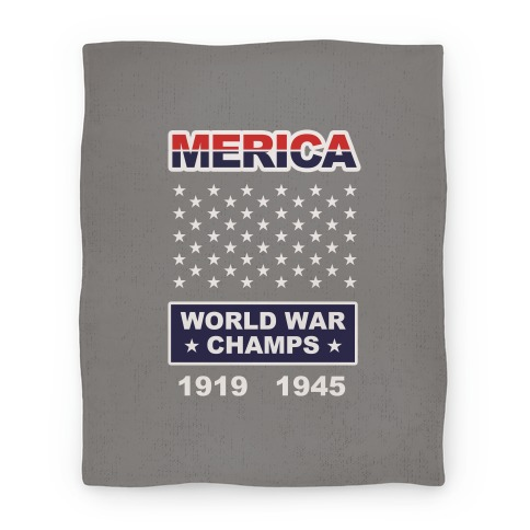 Merica World War Champs (Blanket) Blanket