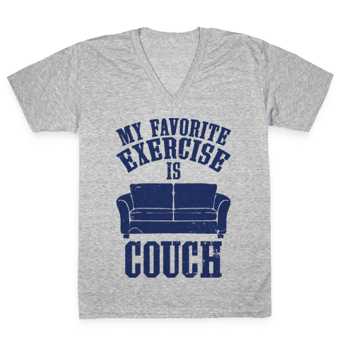 Favorite Exercise V-Neck Tee Shirt