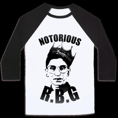 Notorious R.B.G. Baseball Tee