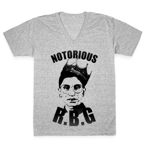Notorious R.B.G. V-Neck Tee Shirt