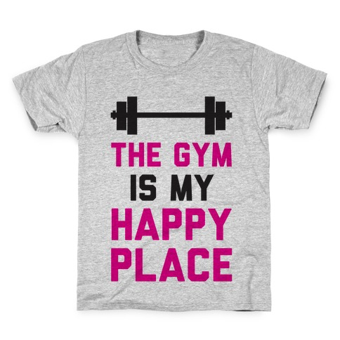 The Gym Is My Happy Place Kids T-Shirt