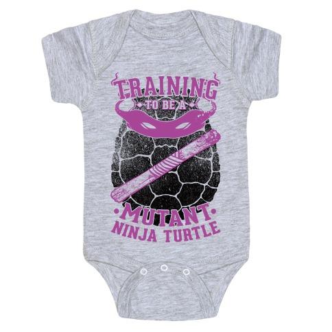 Training To Be A Mutant Ninja Turtle Baby Onesy