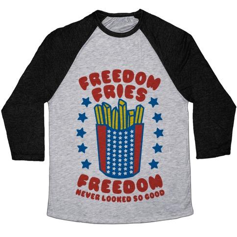 5e5bcddc6 Freedom Fries Baseball Tee | Merica Made