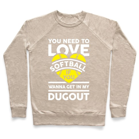 9d228df9 You Need To Love Softball Crewneck Sweatshirt | Activate Apparel