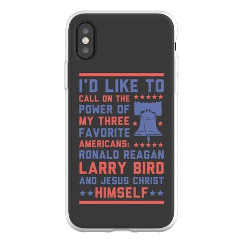 My Three Favorite Americans Phone Flexi-Case