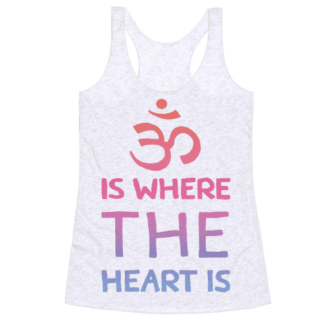Om Is Where The Heart Is Racerback Tank Top