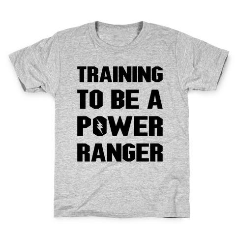 Training To Be A Power Ranger Parody Kids T-Shirt
