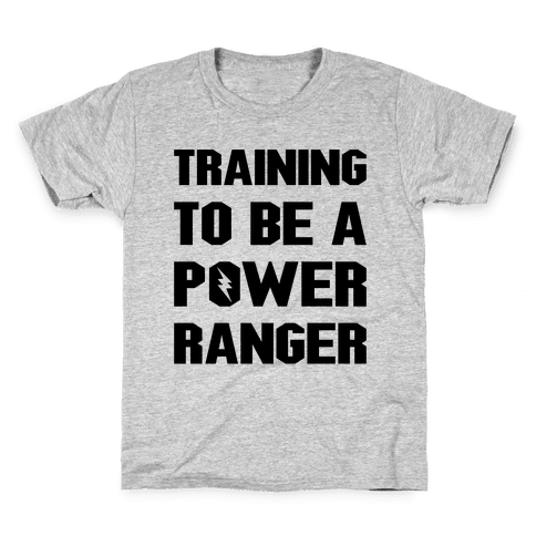 Training To Be A Power Ranger Parody Kids T-Shirt