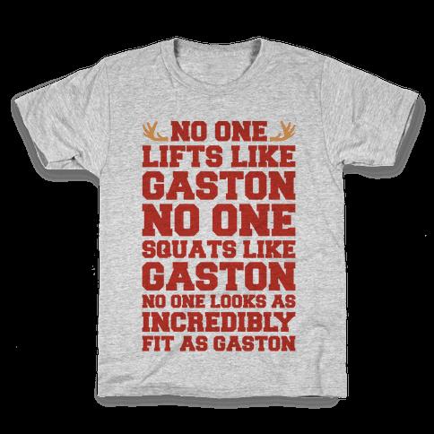 No One Lifts Like Gaston Parody Kids T-Shirt