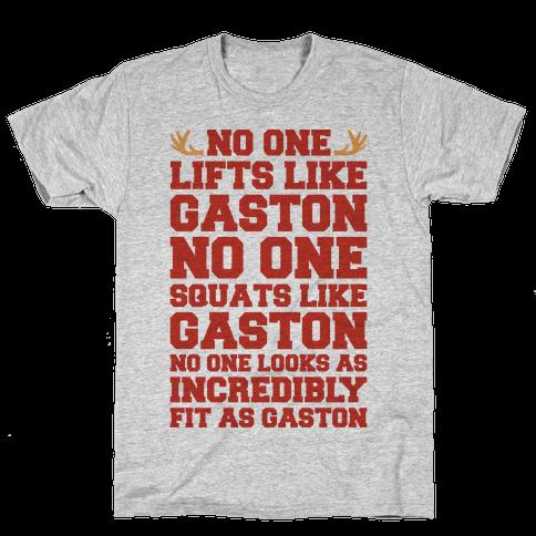 No One Lifts Like Gaston Parody Mens T-Shirt