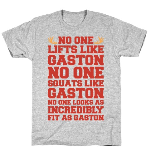 No One Lifts Like Gaston Parody Mens T-Shirt