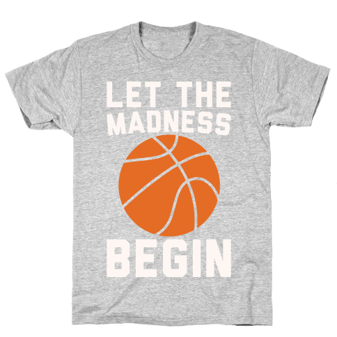 Let The Madness Begin White Print