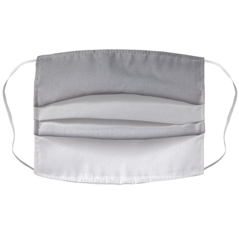 Grayscale Light Accordion Face Mask