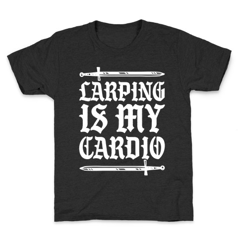 Larping Is My Cardio White Print Kids T-Shirt