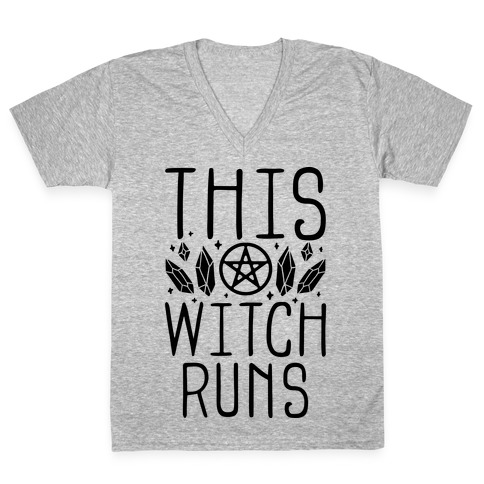 This Witch Runs V-Neck Tee Shirt