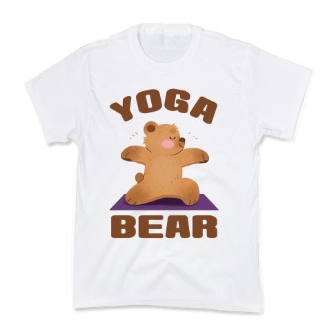 Yoga Bear Kids T-Shirt