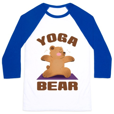 Yoga Bear Baseball Tee