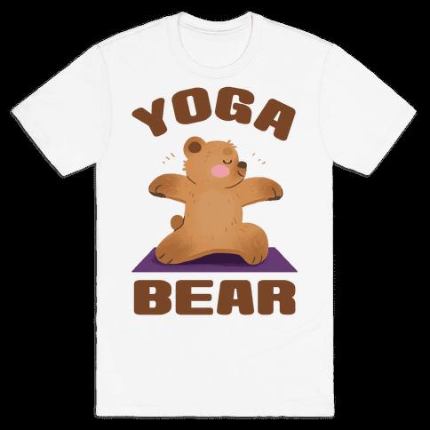 Yoga Bear Mens/Unisex T-Shirt