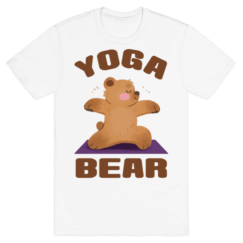 Yoga Bear Mens/Unisex T-Shirt