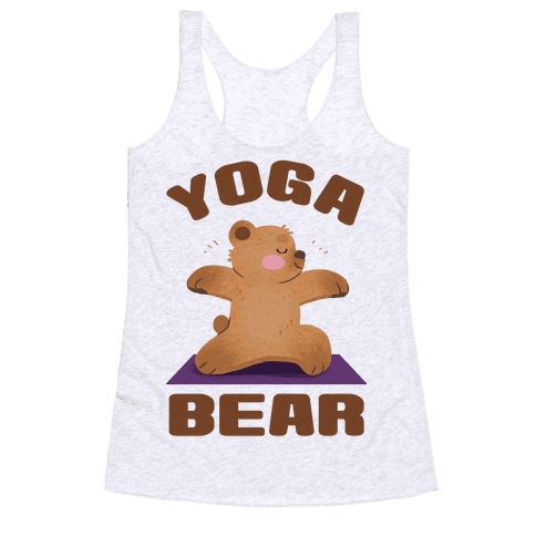 Yoga Bear Racerback Tank Top