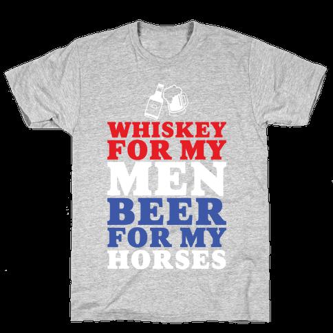 Whiskey For My Men  Mens T-Shirt