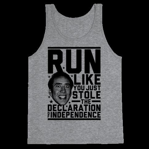 Run Like Nick Cage Tank Top