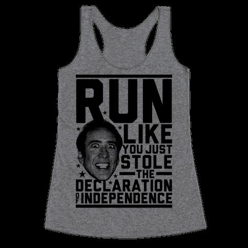 Run Like Nick Cage Racerback Tank Top